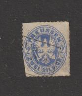 ALLEMAGNE . PRUSSE  --  18 Ou 19  De 1861-65 -  Oblitéré  -  2.s . Bleu De Prusse Ou Outremer  - 2 Scannes - Preussen