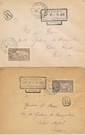 N-936: ST PIERRE: Lot Avec 2 Enveloppes  Avec N°90 Et Cachet PP 0.30 Du 1/7/1926 Et 6/7/26  (n'ont Pas Voyagés) - Cartas