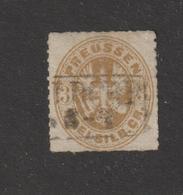 ALLEMAGNE . PRUSSE  --  20  De  1861-65 -  Oblitéré  -  3.s . Bistre- 2 Scannes - Preussen
