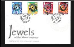 Isle Of Man FDC 1999 Jewels Of The Manx Language (NB**LAR9-97) - Man (Insel)