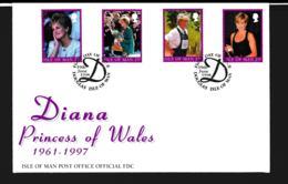 Isle Of Man FDC 1998 Diana - Princess Of Wales (NB**LAR9-97) - Man (Insel)