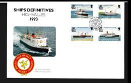 Isle Of Man FDC 1993 Ships Definitives High Values  (NB**LAR9-97) - Man (Insel)