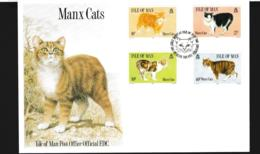 Isle Of Man FDC 1989 Manx Cats  (NB**LAR9-97) - Man (Insel)