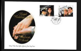Isle Of Man FDC 1986 Royal Wedding Andrew & Sarah (NB**LAR9-97) - Man (Insel)