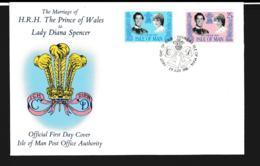 Isle Of Man FDC 1981 Royal Wedding Charles & Diana (NB**LAR9-97) - Man (Insel)