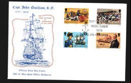 Isle Of Man FDC 1979 Capt. J Quilliam (NB**LAR9-97) - Man (Insel)
