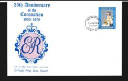 Isle Of Man FDC 1978 25th Anniversary Of Coronation (NB**LAR9-97) - Man (Insel)