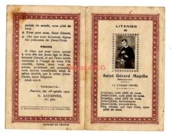 Image Pieuse / Litanies De Saint Gerard Majella Redémptoriste Priere 1902 Lefebvre - Images Religieuses