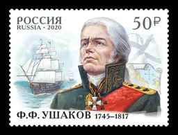 Russia 2020 Mih. 2858 Naval Commander Fyodor Ushakov. Ships MNH ** - 1992-.... Federation