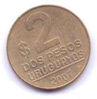 URUGUAY 2007 Pesos, KM 104 - Uruguay