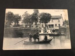 CPA 1900/1920 Lagarde (Lothr) Café Spezerei Et Barque - France
