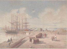 CHROMO RECOMPENSES  EXPOSITION UNIVERSELLE PARIS 1867  VOILIERS AU PORT - Chromos