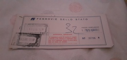 BIGLIETTO TRENO DA BOLOGNA CENTRALE A VILLA SAN GIOVANNI 1989 - Europe