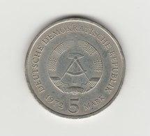 5 MARKS RDA 1972 MEISSEN - [ 6] 1949-1990 : GDR - German Dem. Rep.