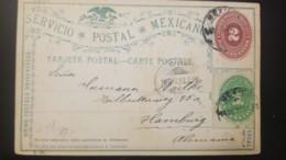 G)1893 MEXICO, 2 CENTS-1 CENT NUMERALS, POSTAL STATIONARY CIRCULATED TO HAMBURG, GERMANY VIA NUEVO LAREDO, VF - Mexiko