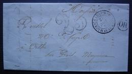Saint-Maurice-lès-Charencey (Orne) 1852 Origine Rurale Taxée 25 Lettre De Pajot, Des Forges De Randonnay - 1849-1876: Classic Period
