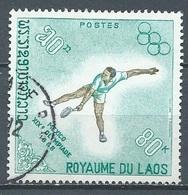 Laos YT N°190 Jeux Olympiques De Mexico 1968 Tennis Oblitéré ° - Laos