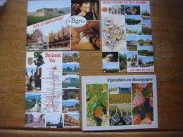France - Lot 6 Cartes De BOURGOGNE ( Route Des Vins Vignobles Vignes Orange Gigondas Suze Rasteau Vacqueras Grignan ...) - Bourgogne