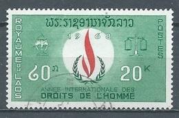 Laos YT N°171 Année Internationale Des Droits De L'homme Oblitéré ° - Laos