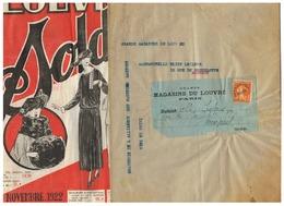 GRANDS MAGASINS DU LOUVRE SOLDES NOVEMBRE 1922 POUR MARPENT (NORD ) - Préoblitérés