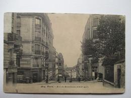 PARIS  -  RUE  DU  MONT-CENIS         PLI  BAS  D. - France