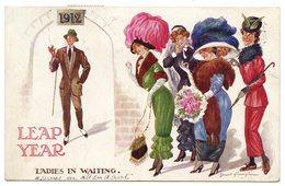 Nouvelle Année 1912.charmantes Catherinettes Restant Dans L'attente D'un Coeur à Prendre. - Other Illustrators