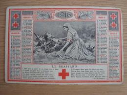 CALENDRIER SOCIETE DE SECOURS AUX MILITAIRES BLESSES 1916 - Calendarios