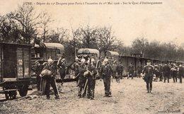 CPA. LURE.Militaires. Départ En Train Du 13e Dragons Pour Paris Pour Le 1er Mai 1906. N& B. BE. NV - Lure