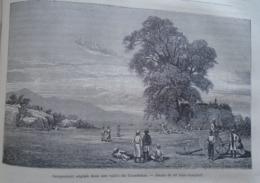 Campement Anglais Dans Une Vallée Du KHONDISTAN   India Odisha  - Engraving 1864 TDM1864.2.337 - Estampas & Grabados