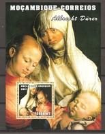 MOZAMBICO - 2001 ALBRECHT DURER METTERZA (Metropolitan Museum, New York) BF Nuovo** MNH - Religion