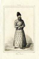 Persia Perse Persien Iran Khan Shah Costume Clothing Fashion Antique Engraving 1841 Y. - Estampas & Grabados