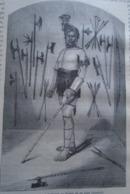 Punda -Naik Chef Khond  -  KHONDISTAN   India Odisha  - Engraving 1864 TDM1864.2.341 - Estampas & Grabados