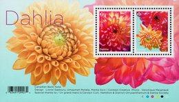 Canada - 2020 - Flowers - Dahlia - Mint Souvenir Sheet - Neufs