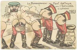 Cpa Caricature, Satirique, Le Bombardement De Port Arthur Par L'artillerie Du Général Oku ( Pet, Scatologie )  ( MI ) - Humoristiques