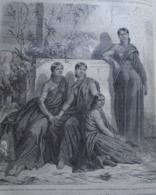 Jeune Femmes Destinees Au Role De Meriah  -  KHONDISTAN   India Odisha  - Engraving 1864 TDM1864.2.344 - Estampas & Grabados