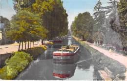 PENICHES - Bon 1er Plan Péniche CIMENT PIERRE à 71 PARAY Le MONIAL - Jolie CPSM Colorisée Format CPA Barge Lastkähne - Houseboats