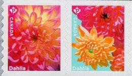 Canada - 2020 - Flowers - Dahlia - Mint Self-adhesive Stamp Set - Neufs