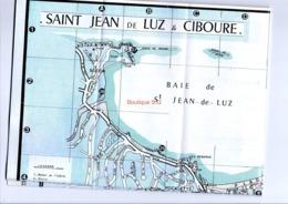 Carte Saint Jean De Luz Commerces Plan Rue Syndicat Initiative Plan Touristique - Mapas Topográficas