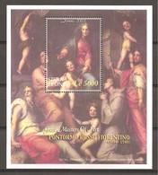 SIERRA LEONE - 2003 Natale PONTORMO Madonna E S. GIOVANNI EV., FRANCESCO E GIACOMO(pala Pucci, Firenze) BF Nuovo** MNH - Religion