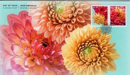 Canada - 2020 - Flowers - Dahlia - FDC (first Day Cover) - Omslagen Van De Eerste Dagen (FDC)