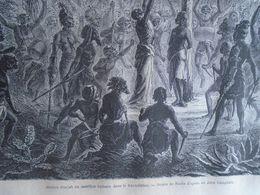 Meriah Poujah Ou Sacrifice Humain Dans Le   KHONDISTAN   India Odisha  - Engraving 1864 TDM1864.2.345 - Estampas & Grabados