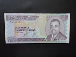 BURUNDI : 100 FRANCS   1.5.2006    P 37e    NEUF - Burundi