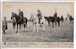 Cpa DANS LES BALKANS - Camp De Zeitinlic - Le Général Sarrail Cause Avec Deux Colonels - Guerre 1914-18