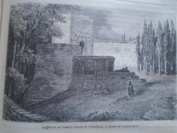 La Puerta De Justitia (entrée De L'Alhambra)  Granada -   Spain Espana, Engraving 1864 TDM1864.2.353 - Estampas & Grabados