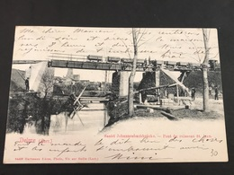 CPA 1900/1920 Delme Pont Du Ruisseau St Jean Timbre Allemand - France