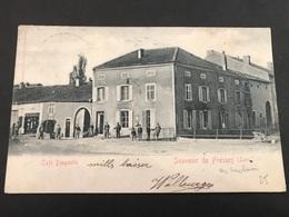 CPA 1900/1920 Souvenir De Fresnes Café Beugnette Carte Taxée - France