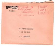 EMA FRANCE LINGE BETTWASCHE TEXTILE TEXTIL DRAP NUIT ELEGANTE NACHT NIGHT LILLE ST MARTIN 1966 DESCAMPS L AINE - Textile