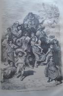 Une Famille De Mediants A Grenade -   Granada -   Spain Espana, Engraving 1864 TDM1864.2.358 - Estampas & Grabados