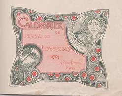 1901 CALENDRIER DU JOURNAL DES DEMOISELLES 14 RUE DROUOT PARIS - Grand Format : 1901-20