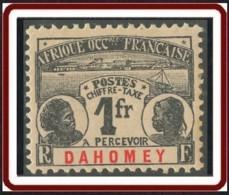Dahomey 1906-1907 - Timbre-taxe N° 8 (YT) N° 8 (AM) Neuf *. - Dahomey (1899-1944)